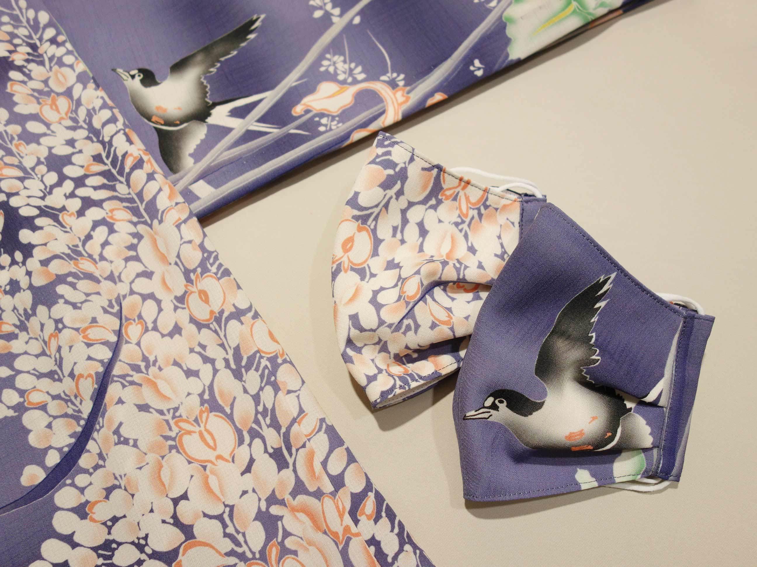 本日新柄マスク「藤とツバメ」新宿店に入荷!_e0167832_13545240.jpg