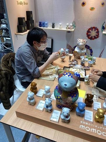 momoco bear モモコベアーの新作と転写体験 「rooms(ルームス)40」_d0125457_16034635.jpg
