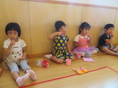 3歳児 歯磨き指導_f0327175_15041525.jpg