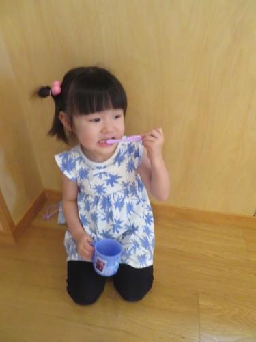 3歳児 歯磨き指導_f0327175_15043691.jpg