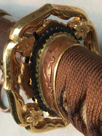 陸軍将校用新型制式軍刀外装・鞘は茶褐鮫鞘仕上の新型軍刀制定当初の物。_a0154482_19234740.jpg