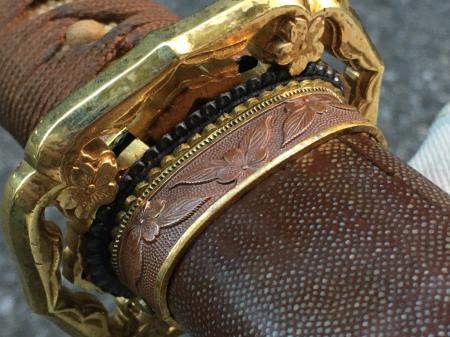 陸軍将校用新型制式軍刀外装・鞘は茶褐鮫鞘仕上の新型軍刀制定当初の物。_a0154482_19251507.jpg