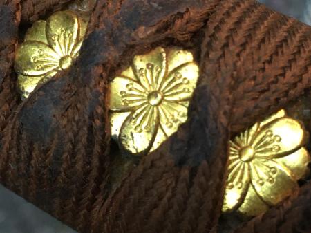 陸軍将校用新型制式軍刀外装・鞘は茶褐鮫鞘仕上の新型軍刀制定当初の物。_a0154482_19311944.jpg