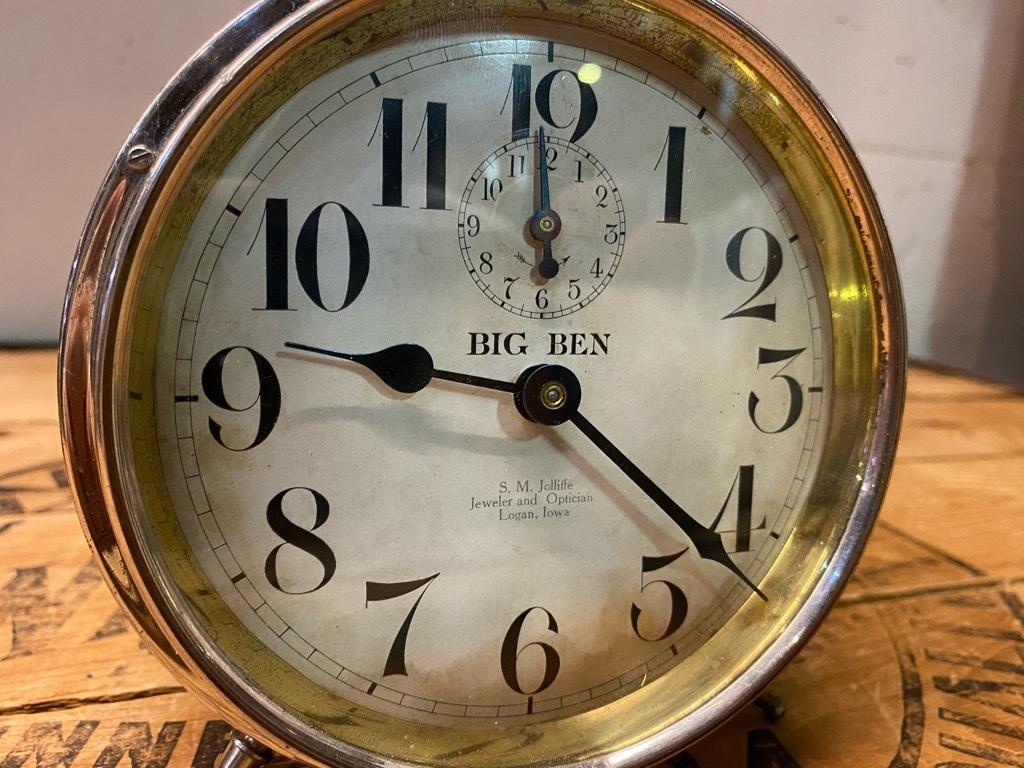 7月11日(土)マグネッツ大阪店アメリカン雑貨入荷日!! #1 AntiqueAlarmClock 1910\'~Westclox BigBen Style-1~9 &  INGRAHAM,ELGIN!_c0078587_12512780.jpg