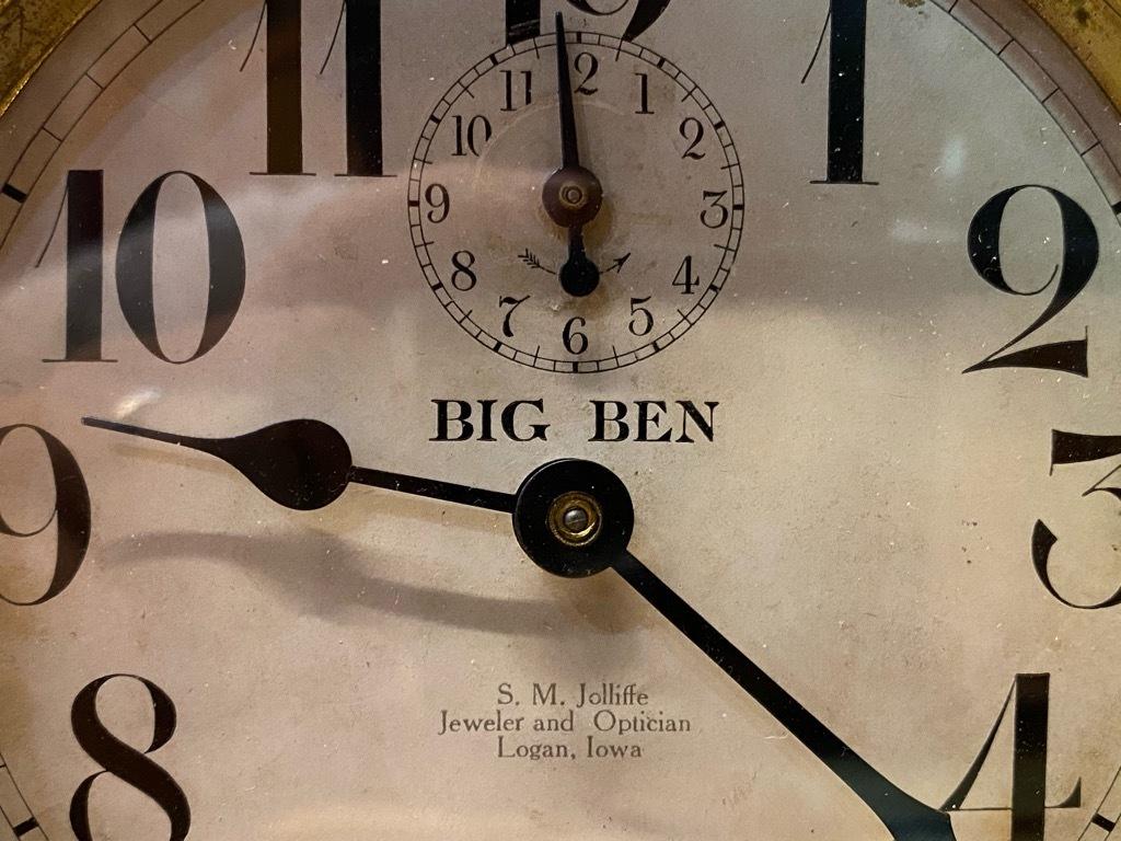 7月11日(土)マグネッツ大阪店アメリカン雑貨入荷日!! #1 AntiqueAlarmClock 1910\'~Westclox BigBen Style-1~9 &  INGRAHAM,ELGIN!_c0078587_12513056.jpg