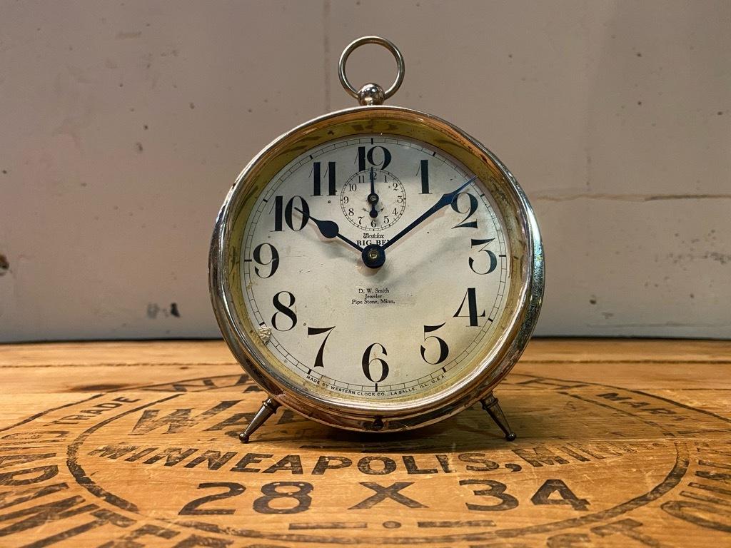7月11日(土)マグネッツ大阪店アメリカン雑貨入荷日!! #1 AntiqueAlarmClock 1910\'~Westclox BigBen Style-1~9 &  INGRAHAM,ELGIN!_c0078587_12544983.jpg