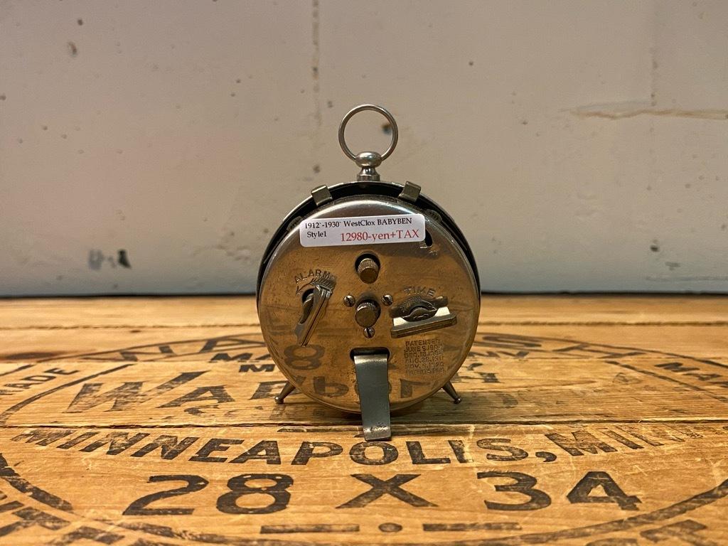 7月11日(土)マグネッツ大阪店アメリカン雑貨入荷日!! #1 AntiqueAlarmClock 1910\'~Westclox BigBen Style-1~9 &  INGRAHAM,ELGIN!_c0078587_13011854.jpg