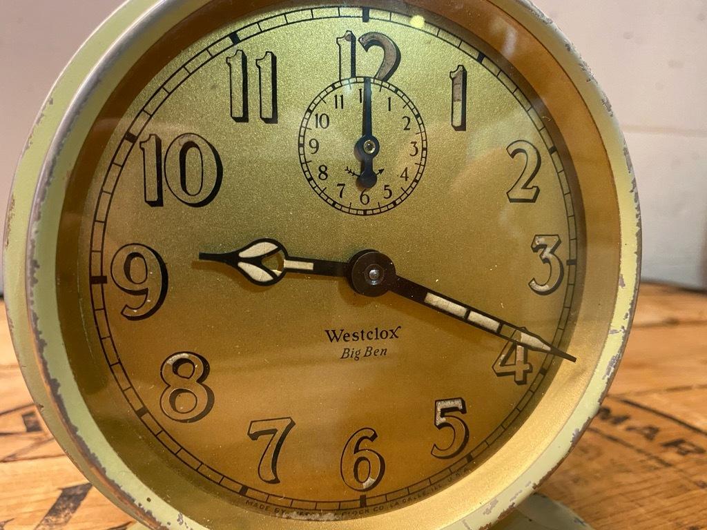 7月11日(土)マグネッツ大阪店アメリカン雑貨入荷日!! #1 AntiqueAlarmClock 1910\'~Westclox BigBen Style-1~9 &  INGRAHAM,ELGIN!_c0078587_13082449.jpg