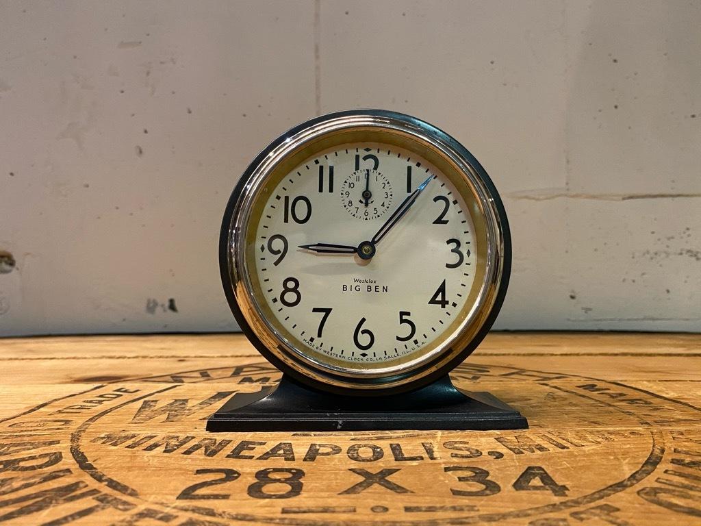 7月11日(土)マグネッツ大阪店アメリカン雑貨入荷日!! #1 AntiqueAlarmClock 1910\'~Westclox BigBen Style-1~9 &  INGRAHAM,ELGIN!_c0078587_13173826.jpg