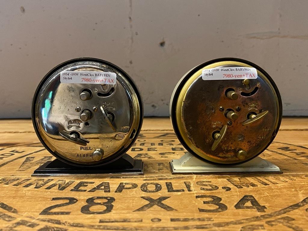7月11日(土)マグネッツ大阪店アメリカン雑貨入荷日!! #1 AntiqueAlarmClock 1910\'~Westclox BigBen Style-1~9 &  INGRAHAM,ELGIN!_c0078587_13225393.jpg