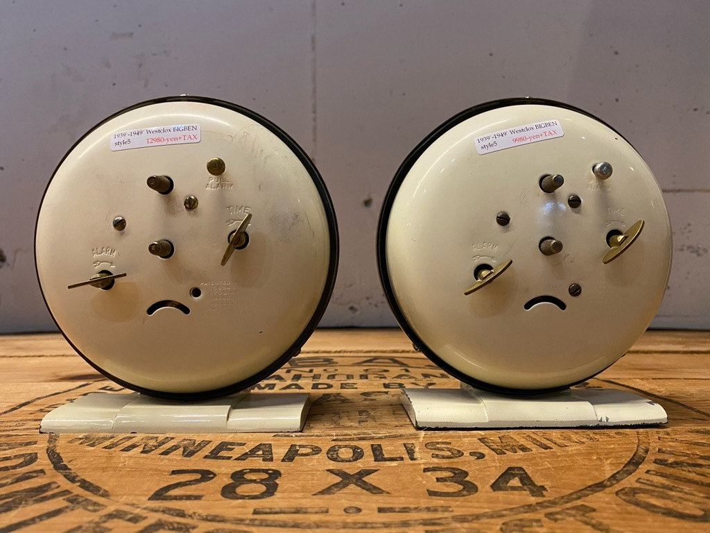 7月11日(土)マグネッツ大阪店アメリカン雑貨入荷日!! #1 AntiqueAlarmClock 1910\'~Westclox BigBen Style-1~9 &  INGRAHAM,ELGIN!_c0078587_13282724.jpg