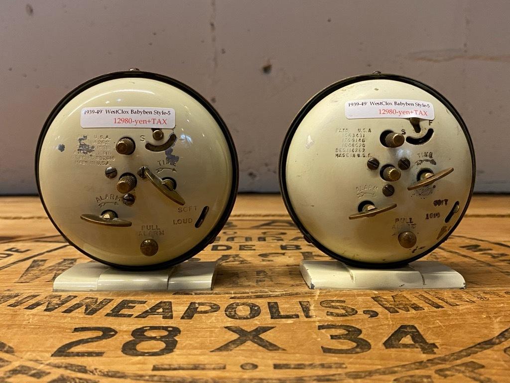 7月11日(土)マグネッツ大阪店アメリカン雑貨入荷日!! #1 AntiqueAlarmClock 1910\'~Westclox BigBen Style-1~9 &  INGRAHAM,ELGIN!_c0078587_13300086.jpg