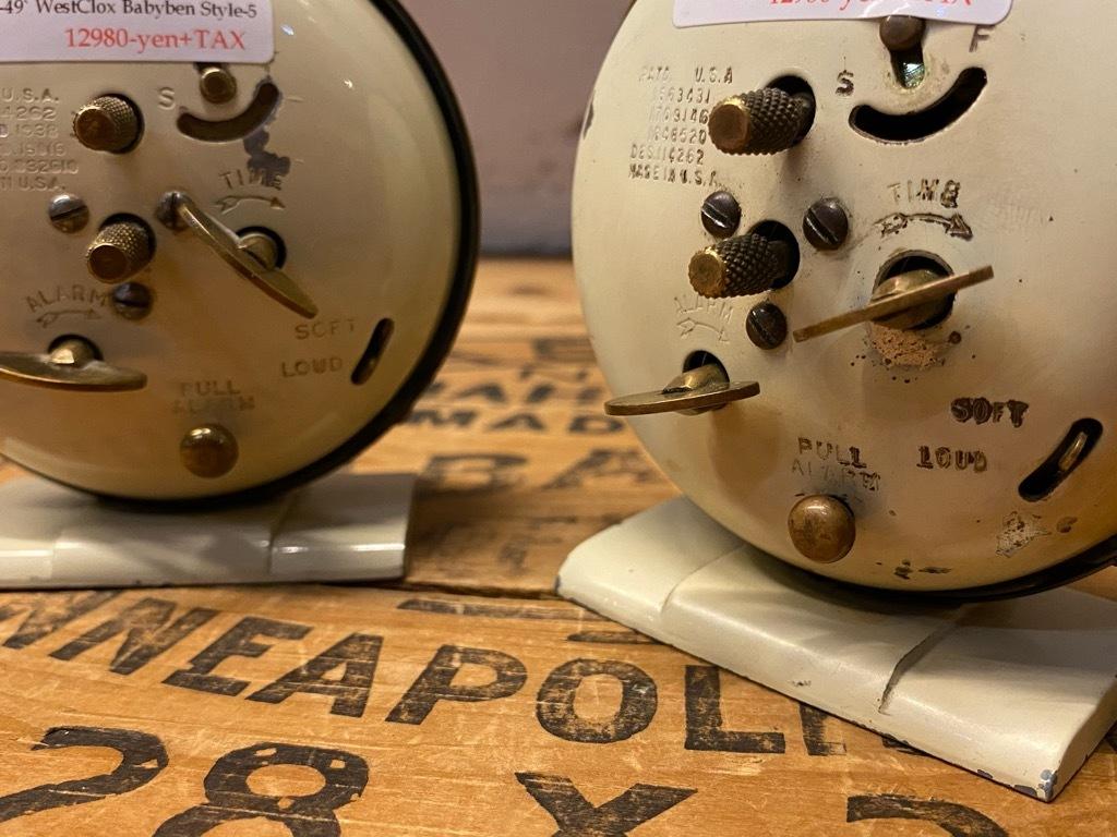 7月11日(土)マグネッツ大阪店アメリカン雑貨入荷日!! #1 AntiqueAlarmClock 1910\'~Westclox BigBen Style-1~9 &  INGRAHAM,ELGIN!_c0078587_13300469.jpg