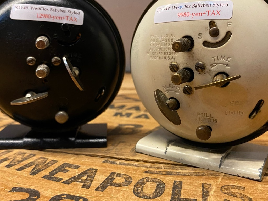 7月11日(土)マグネッツ大阪店アメリカン雑貨入荷日!! #1 AntiqueAlarmClock 1910\'~Westclox BigBen Style-1~9 &  INGRAHAM,ELGIN!_c0078587_13304161.jpg