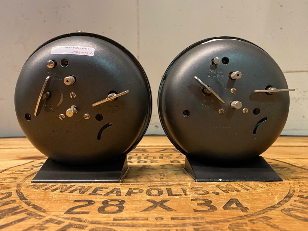7月11日(土)マグネッツ大阪店アメリカン雑貨入荷日!! #1 AntiqueAlarmClock 1910\'~Westclox BigBen Style-1~9 &  INGRAHAM,ELGIN!_c0078587_13350242.jpg