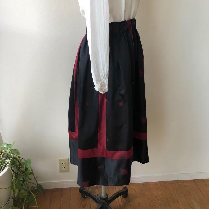 着物着物リメイク/道行からスカート_d0127925_12264364.jpg
