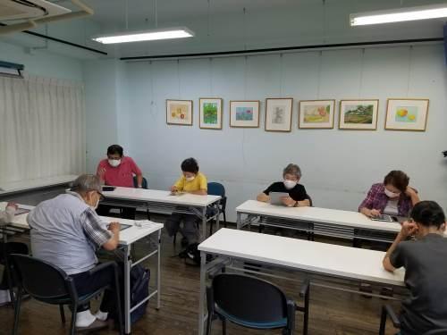 認知症予防教室(ipadで脳トレーニング)_c0113948_14575661.jpg