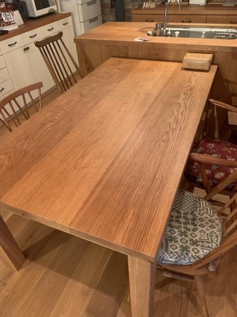 無垢のダイニングテーブル〜匠の塗油でメンテナンス_c0274374_22574845.jpeg