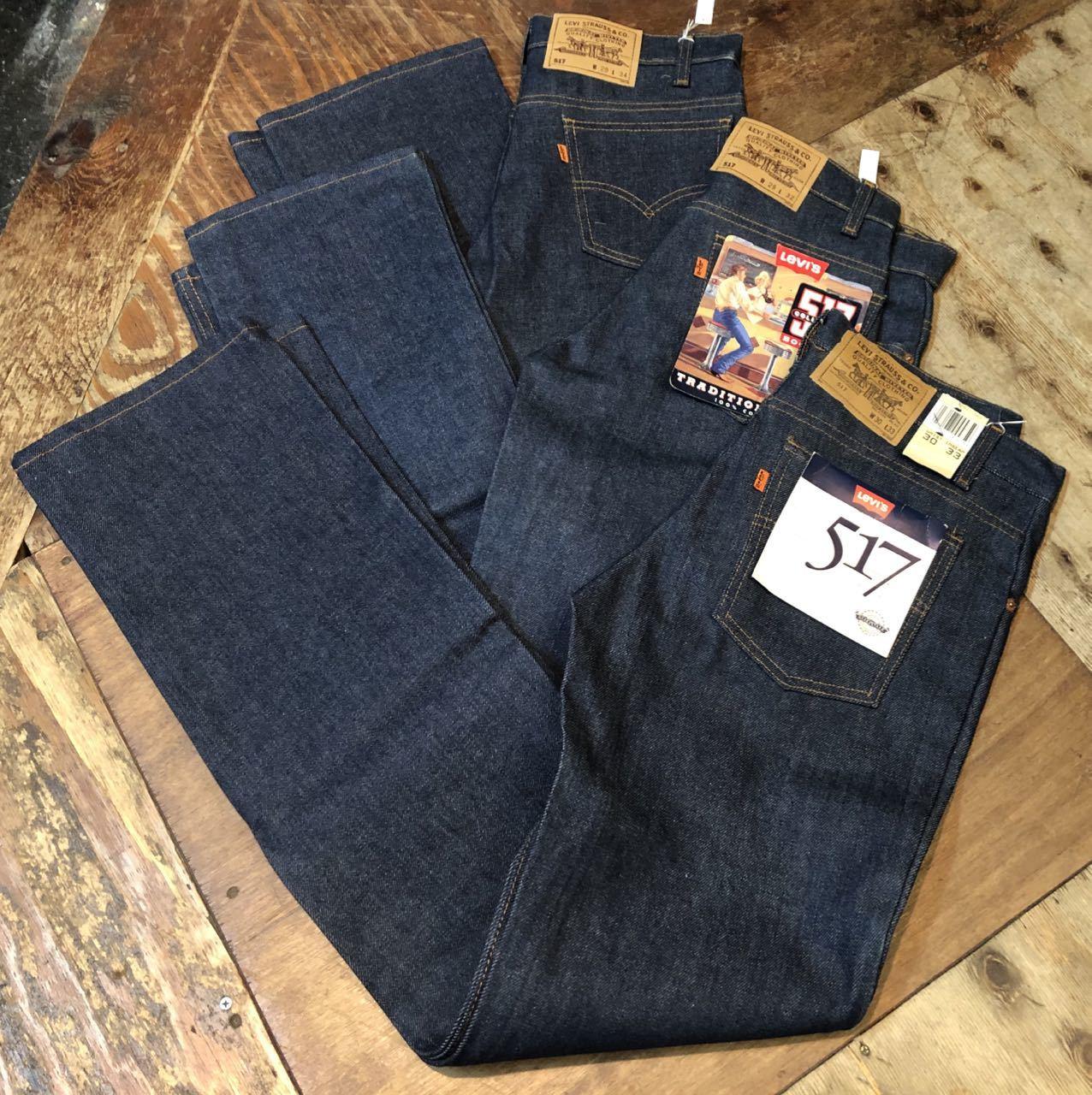 7月11日(土)入荷!80s〜90s デッドストック MADE IN USA Levi\'s 517 boots cut Jeans / 517 ブーツカット!_c0144020_13490570.jpg