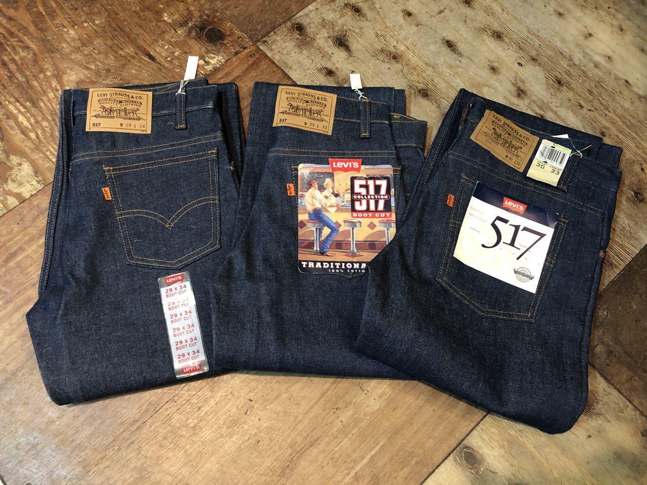 7月11日(土)入荷!80s〜90s デッドストック MADE IN USA Levi\'s 517 boots cut Jeans / 517 ブーツカット!_c0144020_13491446.jpg