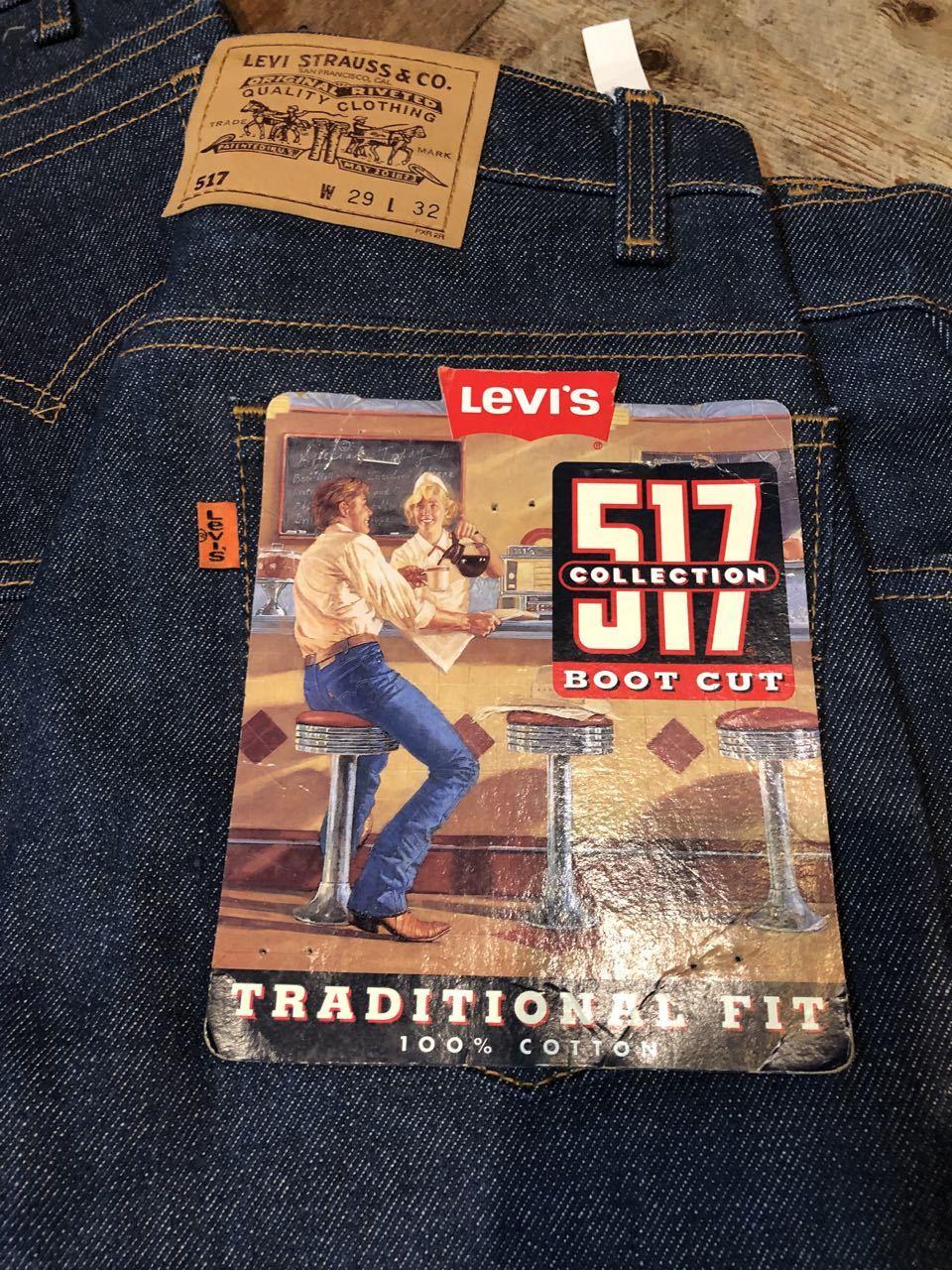 7月11日(土)入荷!80s〜90s デッドストック MADE IN USA Levi\'s 517 boots cut Jeans / 517 ブーツカット!_c0144020_13492170.jpg