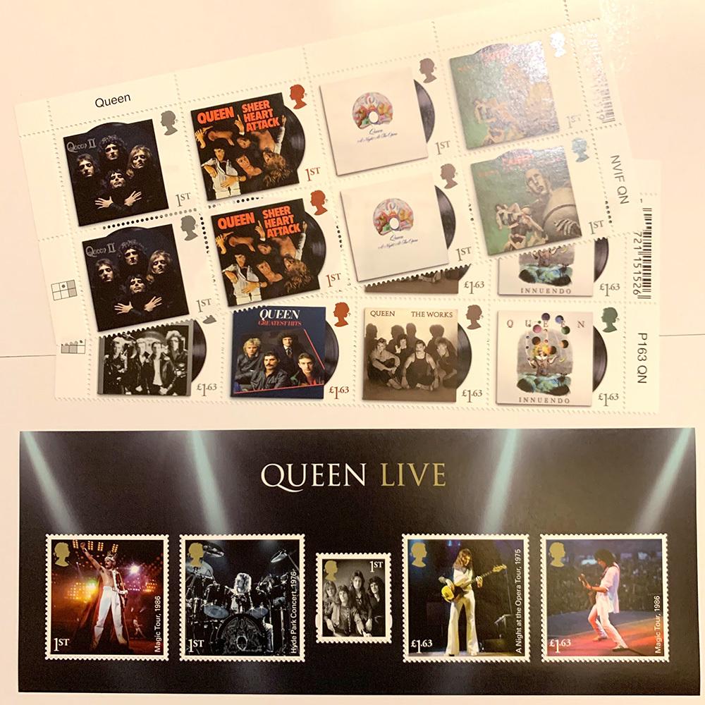 Queenの切手、来ました! 明日7/11に販売開始します!_e0086476_20512183.jpg