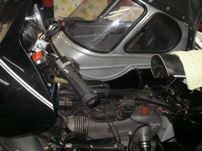BMW R100+バイワーゲン テレスコからアールズへ_e0218639_10180332.jpg