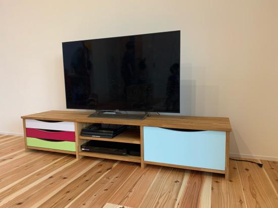 オリジナルテレビ台 納品_f0053665_19020479.jpg