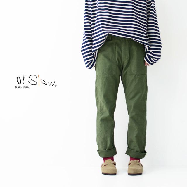 orslow[オアスロウ] W SLIM FIT FATIGUE PANTS [01-5032-16] スリムフィット ファティーグパンツ  LADY\'S _f0051306_17004985.jpg