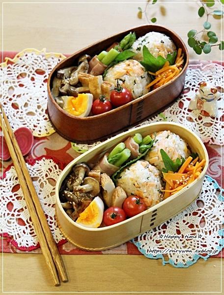 鮭むすび弁当とパン焼きと~♪_f0348032_16472501.jpg