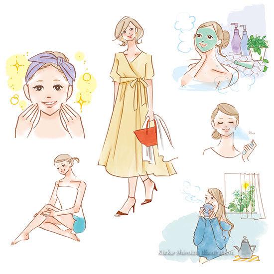 アルマード発行/季刊誌 冬〜夏号の美容イラスト_f0227738_15474949.jpg