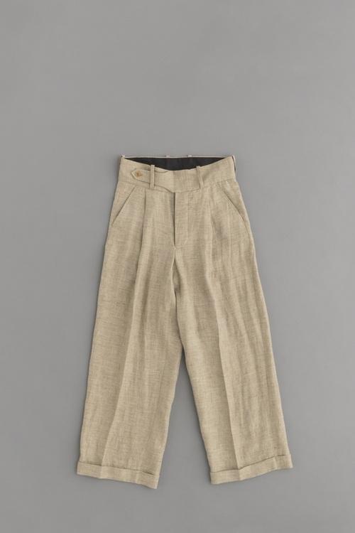 HAVERSACK Linen High Waist Wide Pants (Brown)_d0120442_12241696.jpg