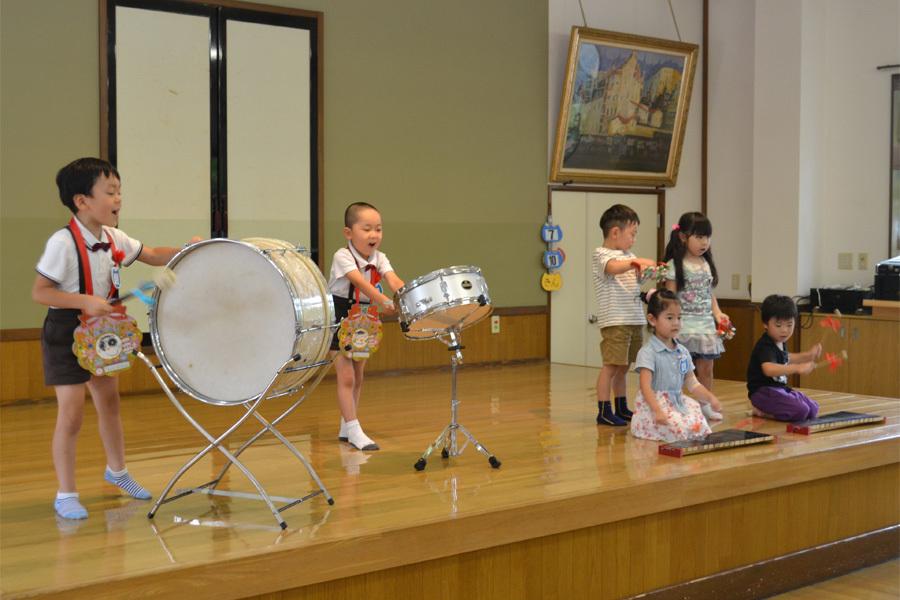 上宮第二幼稚園のお誕生会でした。_d0353789_11532954.jpg