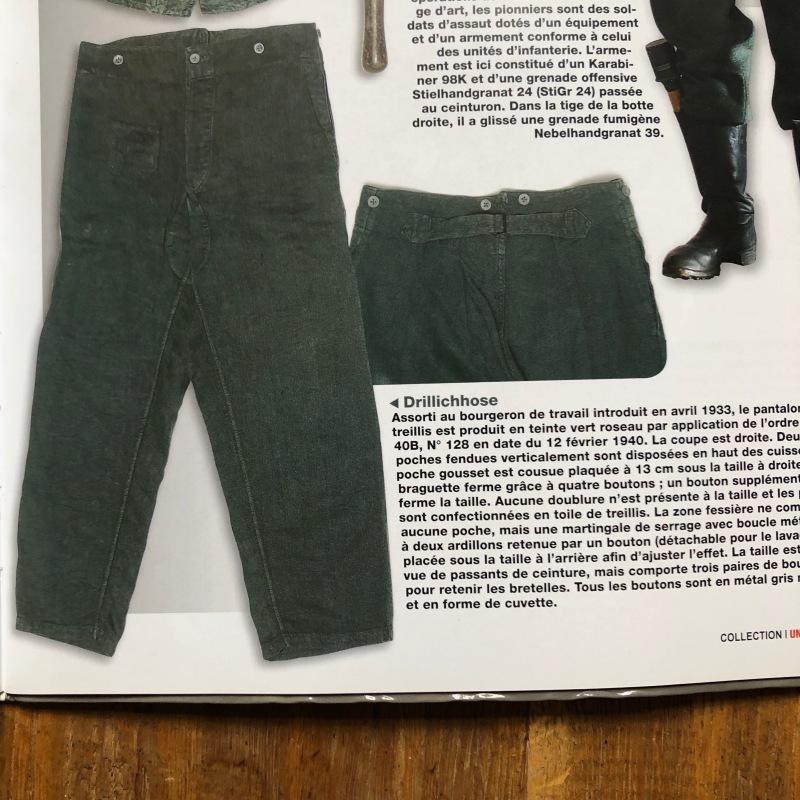 German Military HBT Indigo Linen Drilich Trousers._f0370108_13362964.jpg