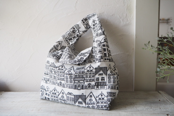 フラップ付きおしゃれなレジ袋バッグ♪オランダの街並み_f0023333_22304041.jpg