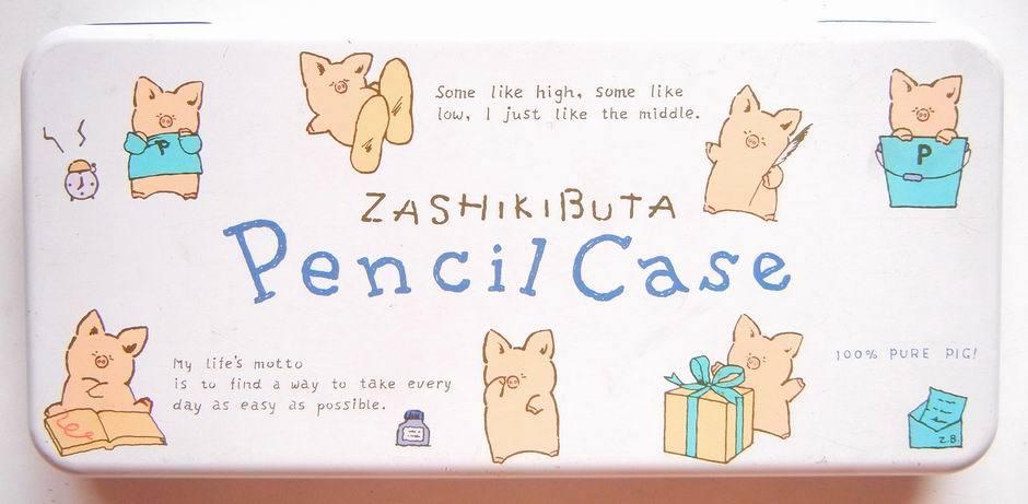 サンリオ☆ザシキブタの缶ペンケース_e0002769_14573743.jpg