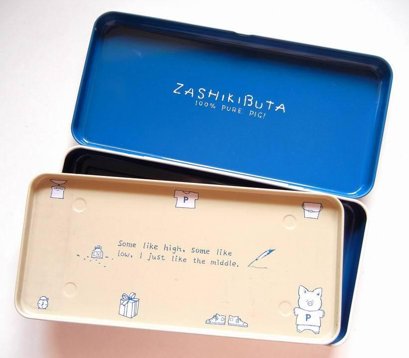 サンリオ☆ザシキブタの缶ペンケース_e0002769_14575656.jpg