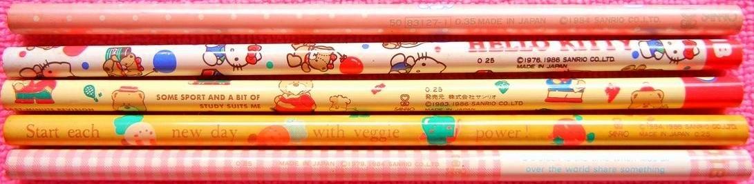 サンリオ 80年代キャラクター鉛筆 色々_e0002769_15172338.jpg