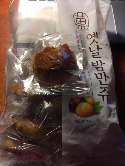 最近のおやつー柿の種、栗饅頭などなど_e0350971_23232878.jpg
