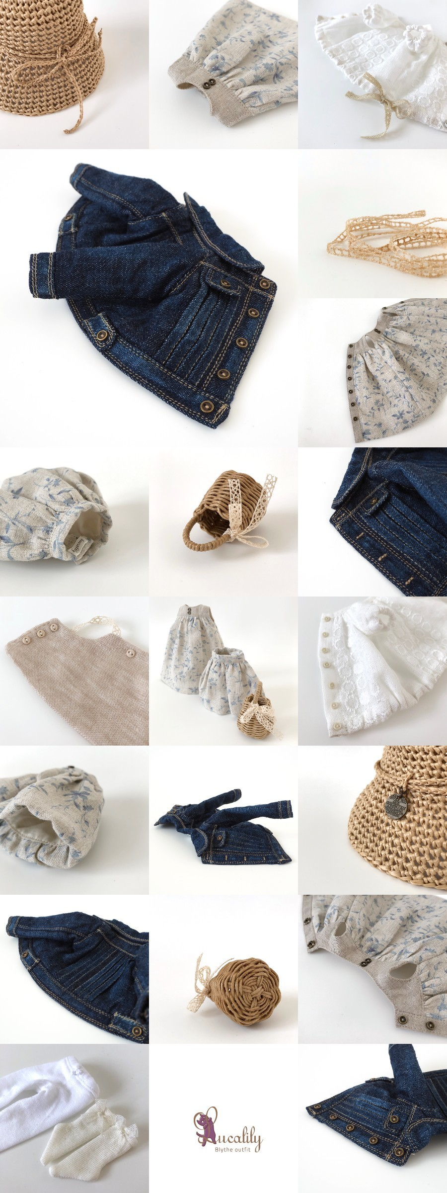 *lucalily * dolls clothes* Denim jacket set *_d0217189_10535042.jpg