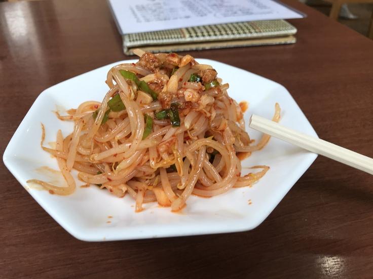 激辛坦々麺と辛味もやし@満福樓(八王子)_c0212604_12134656.jpg
