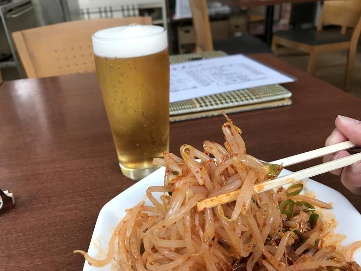 激辛坦々麺と辛味もやし@満福樓(八王子)_c0212604_12153939.jpg