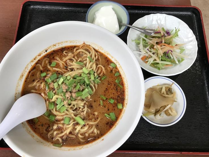 激辛坦々麺と辛味もやし@満福樓(八王子)_c0212604_12165155.jpg