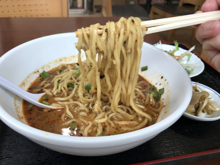 激辛坦々麺と辛味もやし@満福樓(八王子)_c0212604_12182336.jpg