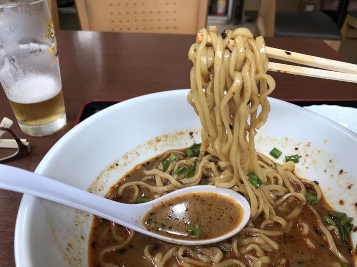 激辛坦々麺と辛味もやし@満福樓(八王子)_c0212604_1220573.jpg