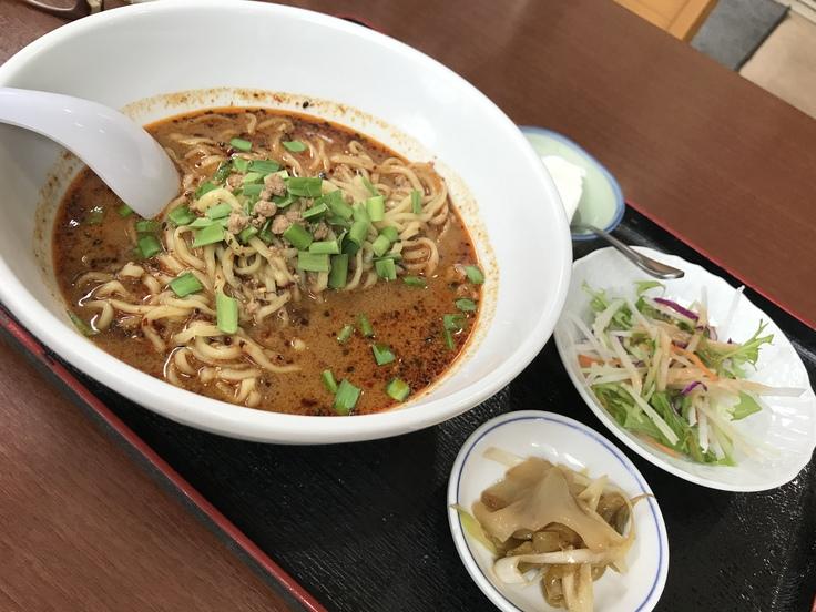 激辛坦々麺と辛味もやし@満福樓(八王子)_c0212604_1353528.jpg