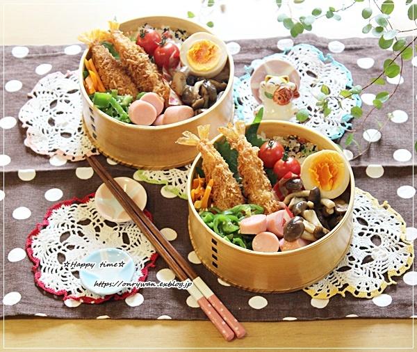 海老フライ弁当と夏ネイル♪_f0348032_16304537.jpg