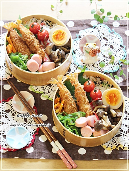 海老フライ弁当と夏ネイル♪_f0348032_16305383.jpg