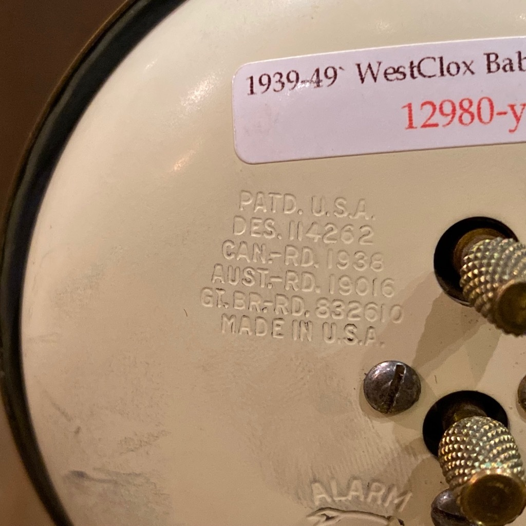 マグネッツ神戸店 7/18(土)アメリカン雑貨ONLINE入荷! #3 WestClox \'\'BabyBen\'\'_c0078587_21131998.jpeg