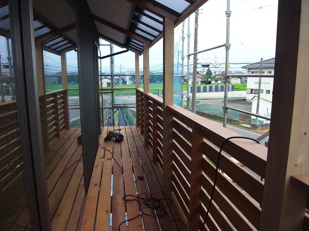抽ヶ台の家 木製バルコン工事 2020/7/17_a0039934_14395025.jpg